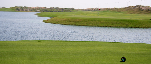 The Almouj Golf course designed by Greg Norman. Muscat Oman